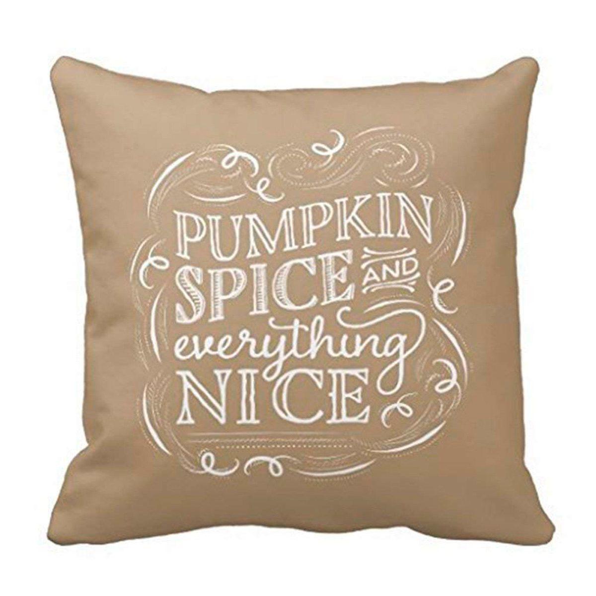 pumpkin spice super soft pillow cover