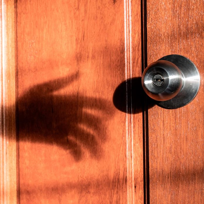 door creepy shadow is your house haunted