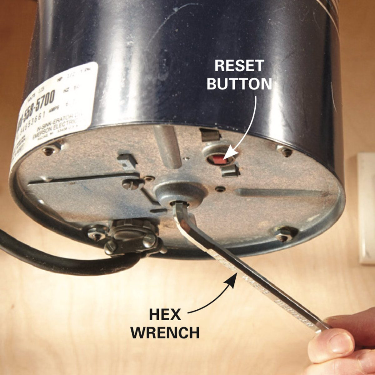 Replace a Garbage Disposal make sure it is broken