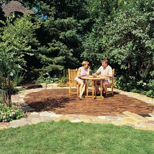 Build a Beautiful Stone and Brick Backyard Patio