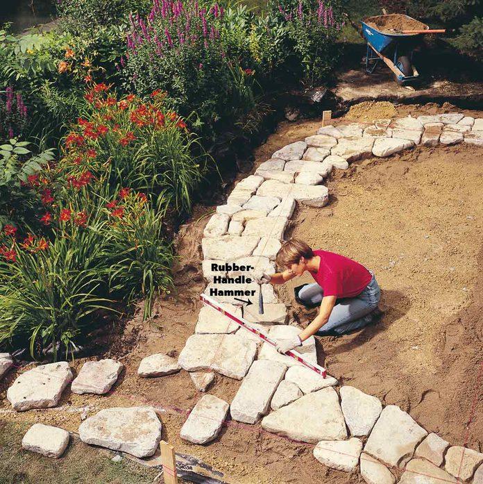 level the patio stones