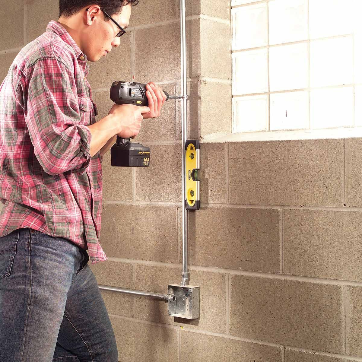 Install Surface-Mounted Wiring and Conduit
