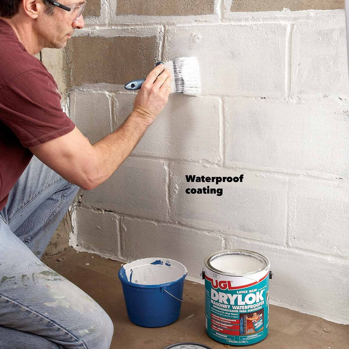 waterproof paint wet basement