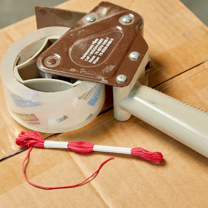 HH Handy hint tear apart packaging tape box string