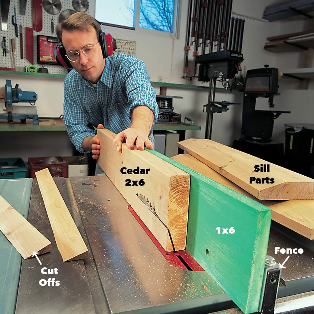 bevel and sill parts
