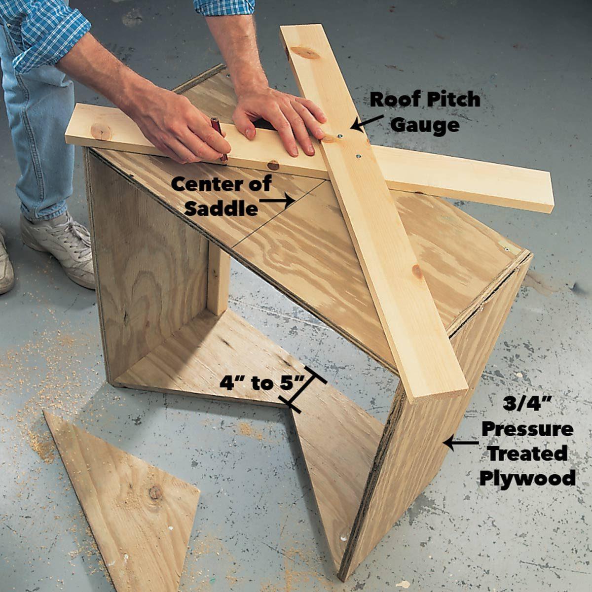 Trace the cut on the saddle cupola