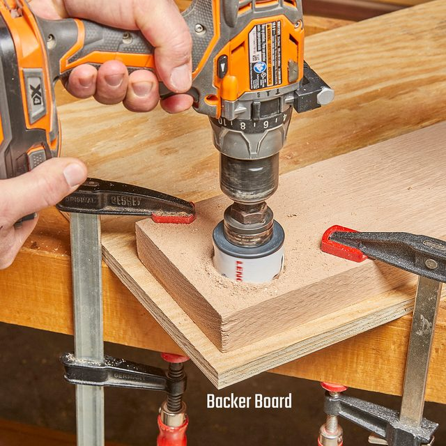 Cutting into a board with a backer board beneath it | Construction Pro Tips