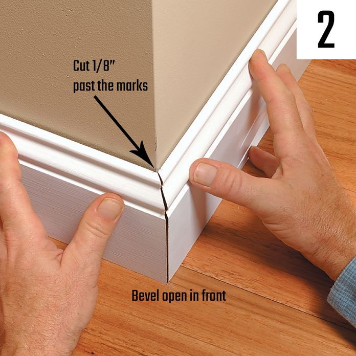 Checking the fit of a miter before installation | Construction Pro Tips