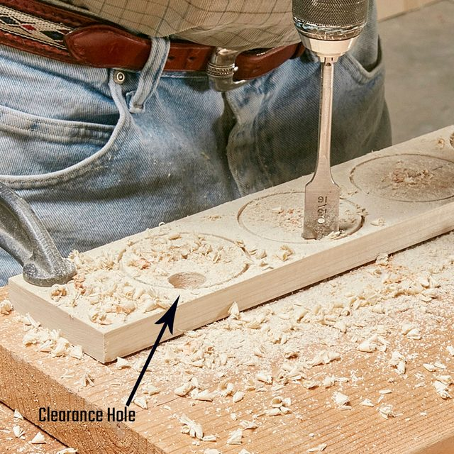 A clearance hole created in a board | Construction Pro Tips