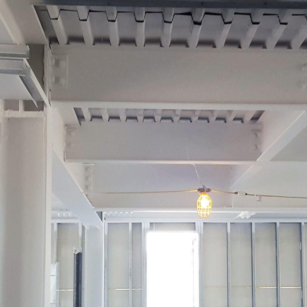 basement ceiling sprayed with fire retardant | Construction Pro Tips