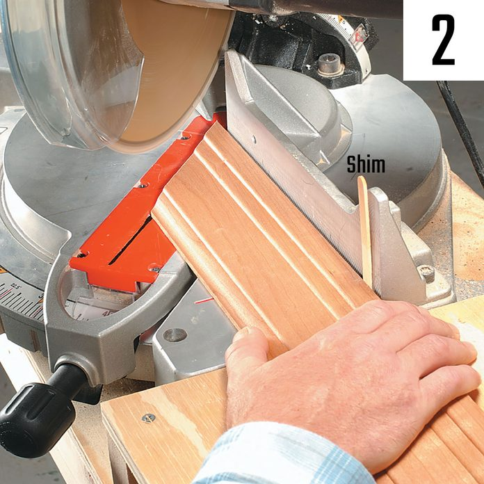Setting up a piece of trim to saw | Construction Pro Tips