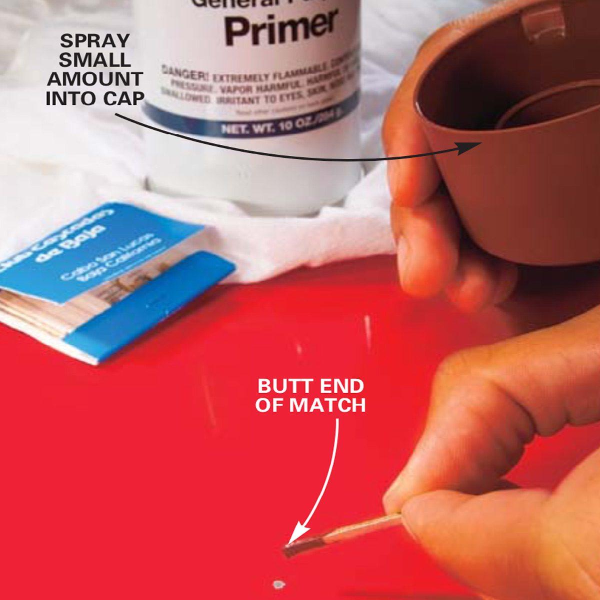 Apply primer to car paint diagram