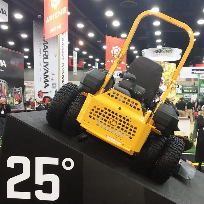 Cub cadet Pro Z 972 SD on a 25 degree tilt | Construction Pro Tips
