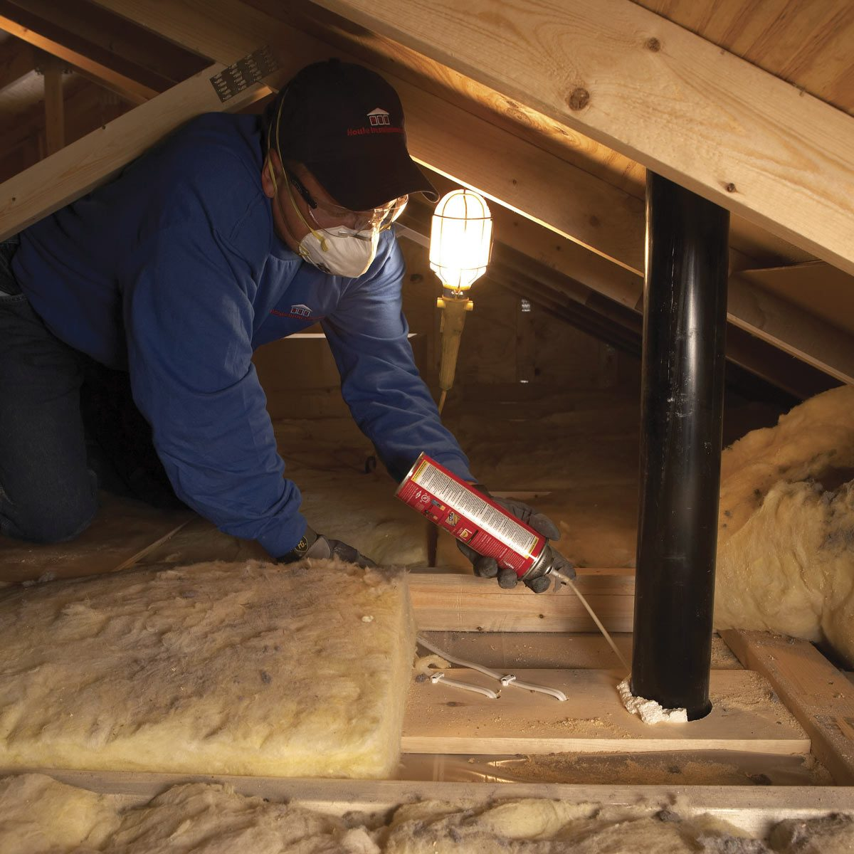 Blown in insulation: Seal air leaks