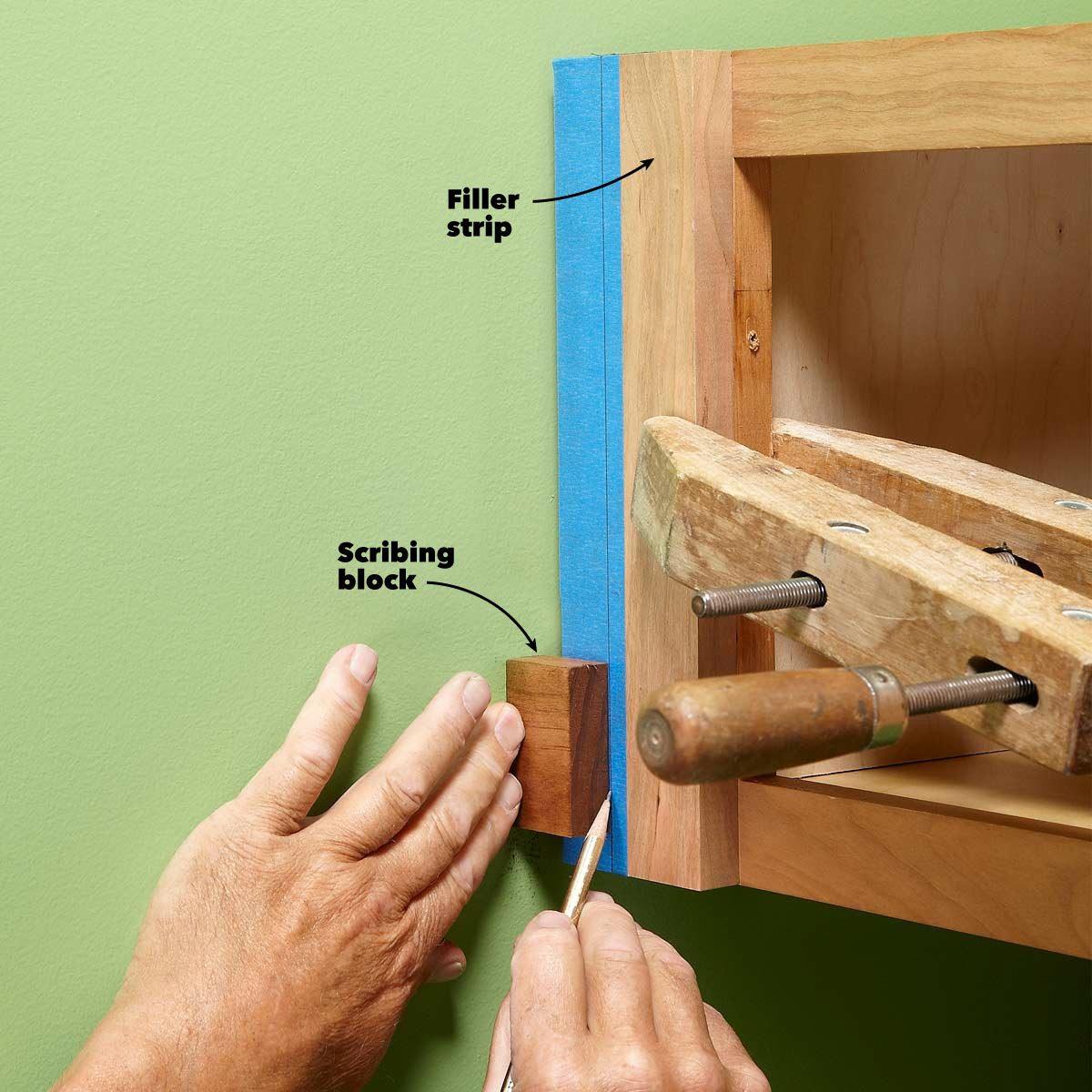 wood block for scribing