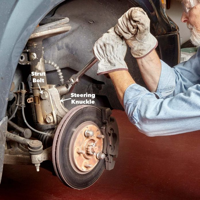 Loosen and remove the nuts and bolts