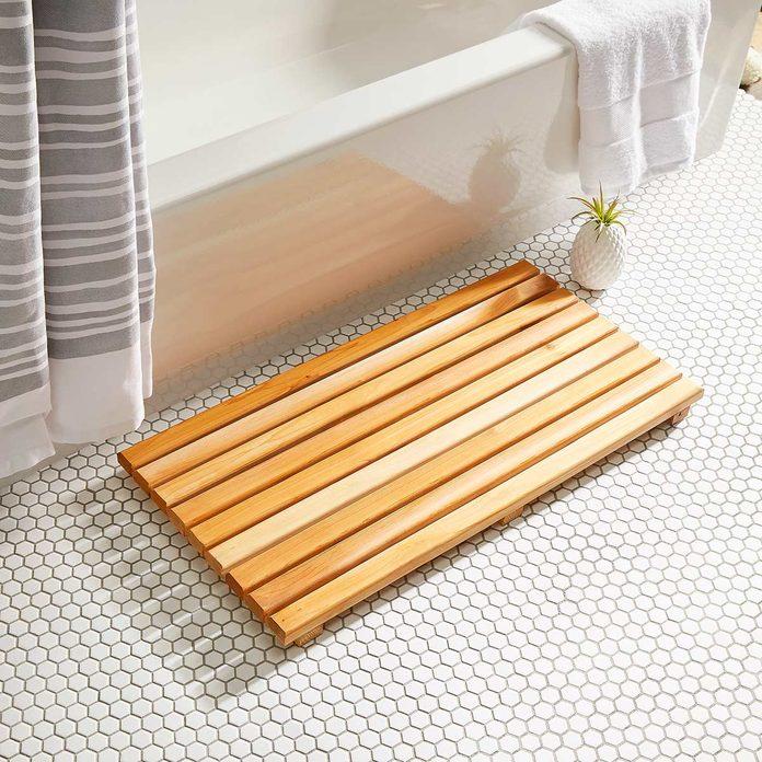 cedar bath mat