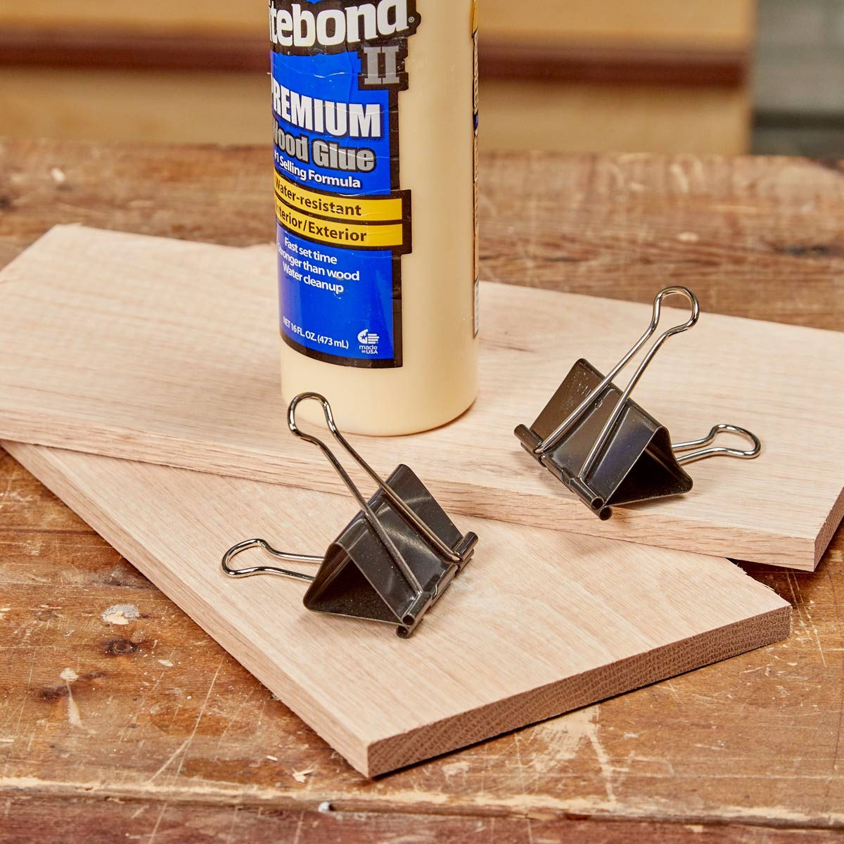 binder clip clamps