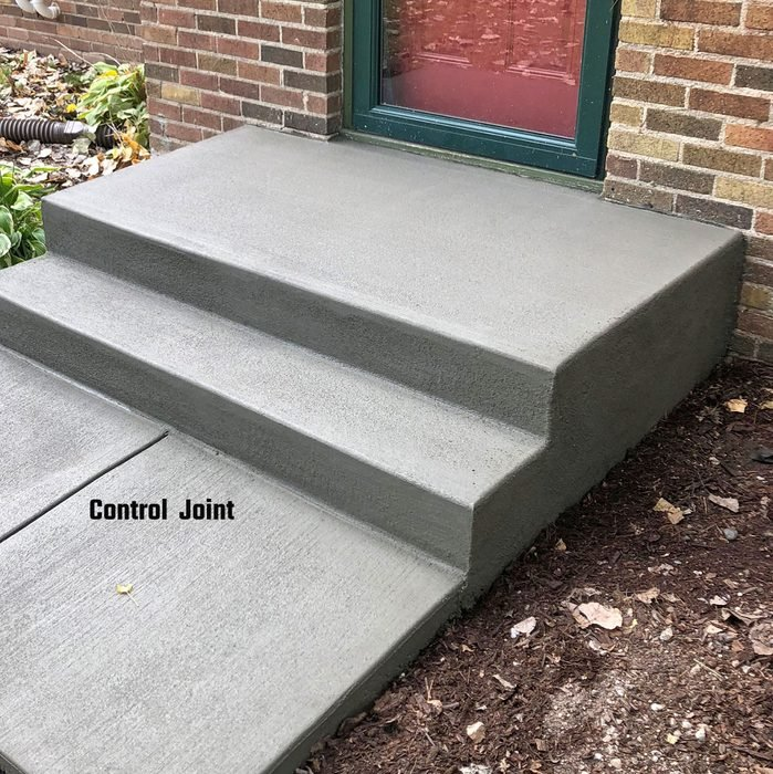 Control Joint in finished stoop   Construction Pro Tips