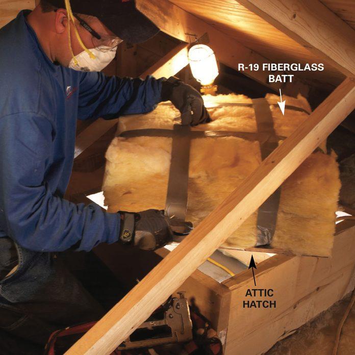 Blown in insulation: insulate access doors
