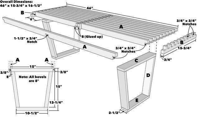 Nelson Platform Bench Tech Art