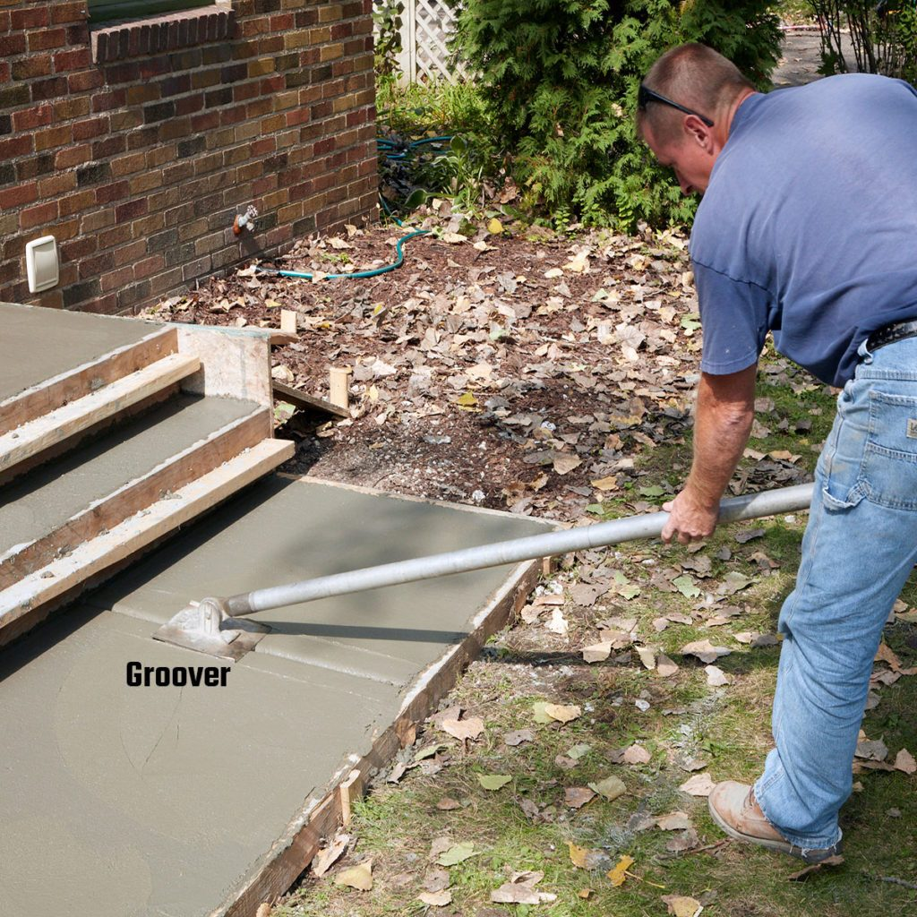 Create control joints with a groover | Construction Pro Tips