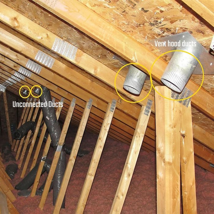Unconnected ducts and vent hood ducts | Construction Pro Tips