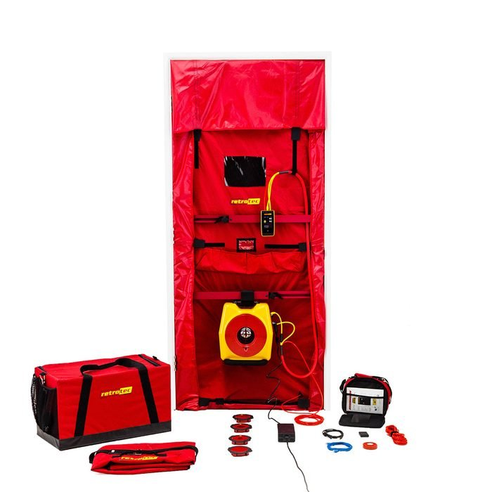 A blower door kit   Construction Pro Tips