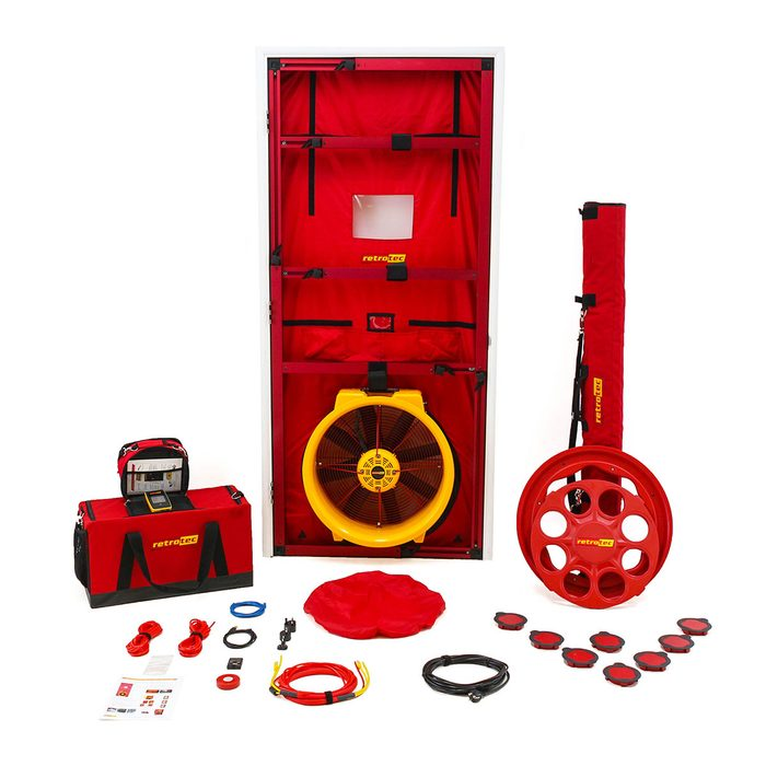 Kit for single-point blower door testing   Construction Pro Tips