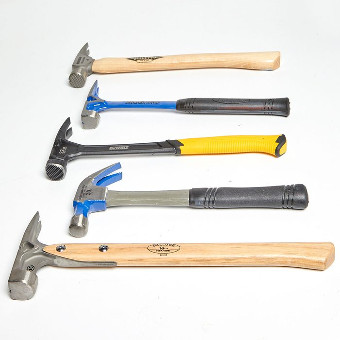 Five hammers laying on their sides | Construction Pro Tips