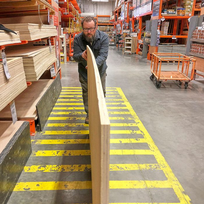 Checking plywood with flatness   Construction Pro Tips