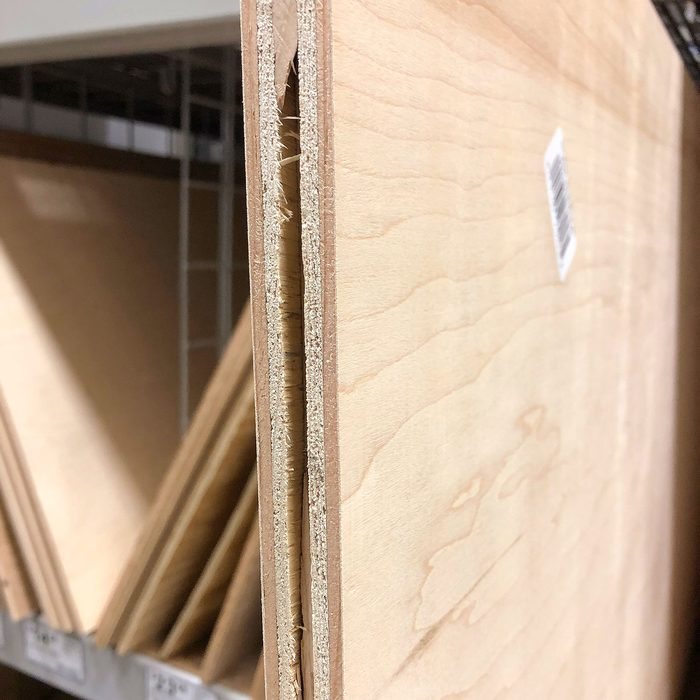 A slab of plywood with a split edge   Construction Pro Tips