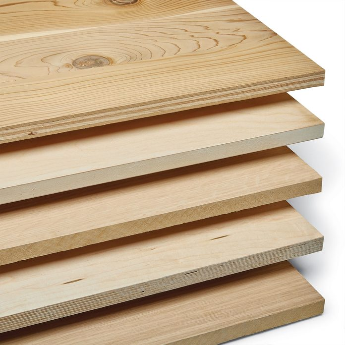 Five stacked pieces of plywood | Construction Pro Tips