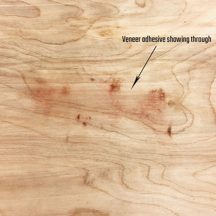Adhesive showing through after sanding plywood   Construction Pro Tips