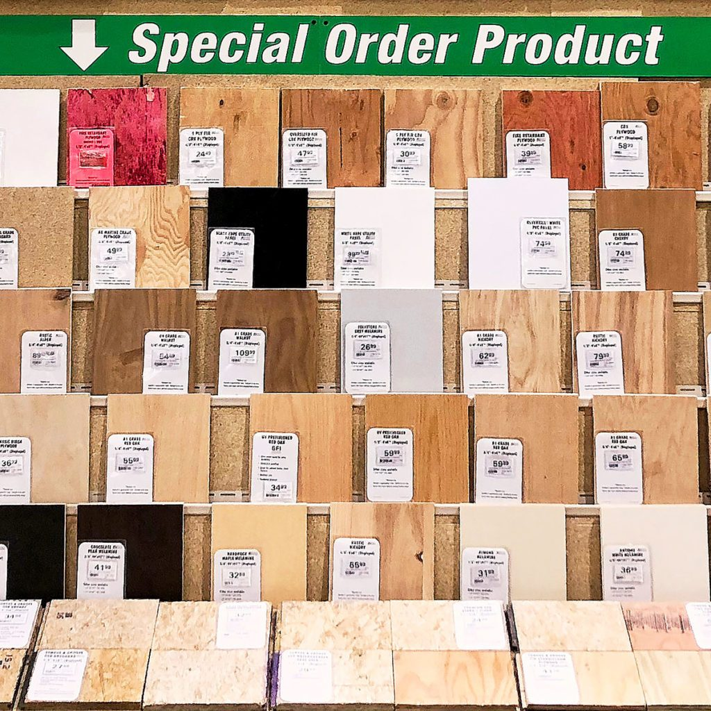 Special-ordered plywood samples | Construction Pro Tips