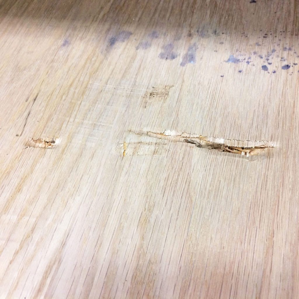 Plywood with dents and damages | Construction Pro Tips