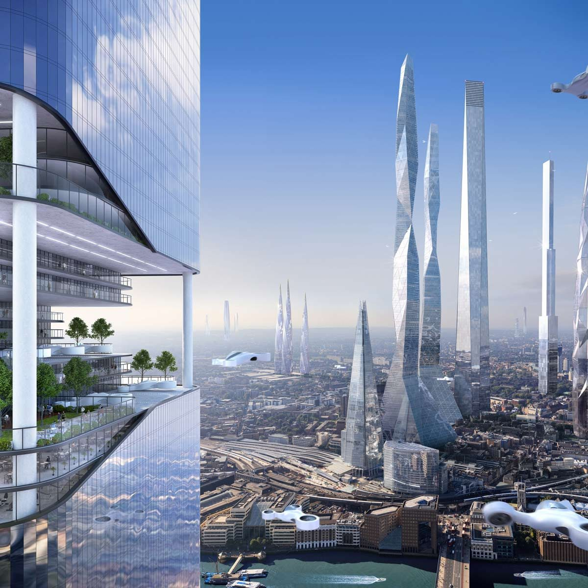 future city skyscraper