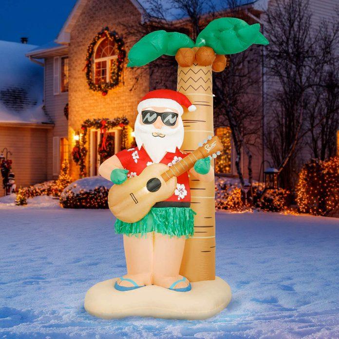 hula santa inflatable