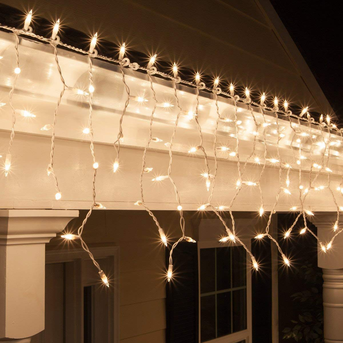 Icicle christmas lights
