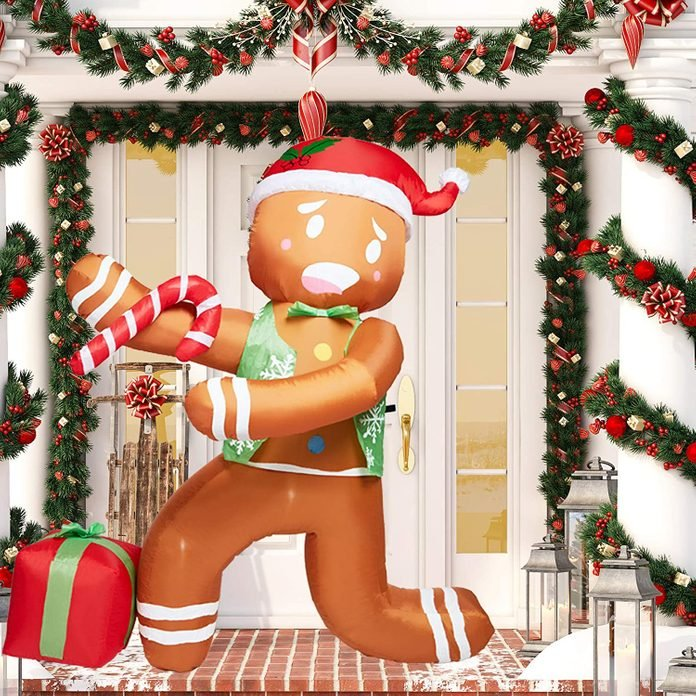 gingerbread man inflatable
