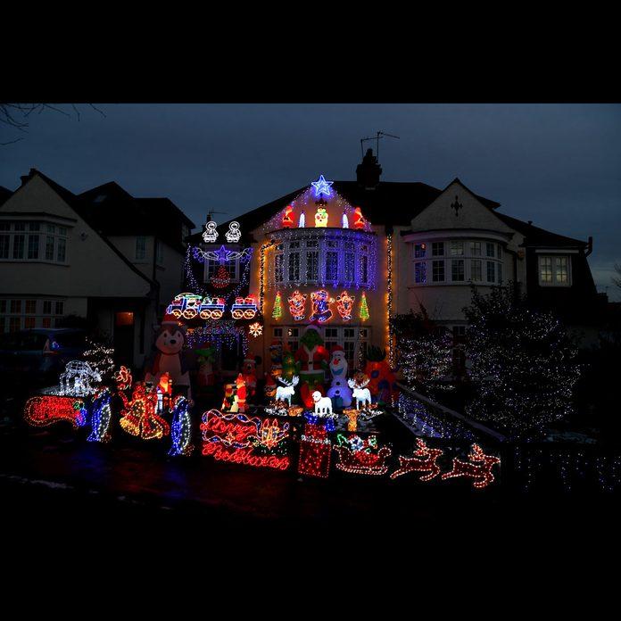 London crazy Christmas lights