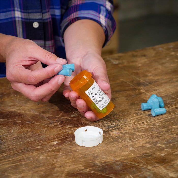 Rx Bottle for Earplug Storage