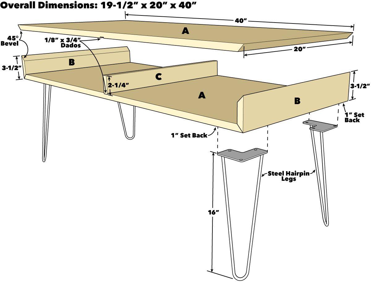 Hairpin Leg Coffee Table
