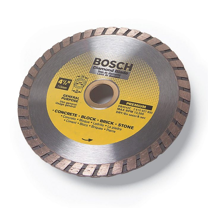 A diamond blade from bosch | Construction Pro Tips