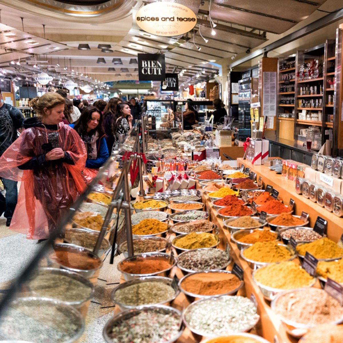 Market food shop in Grand Central Manhattan NYC