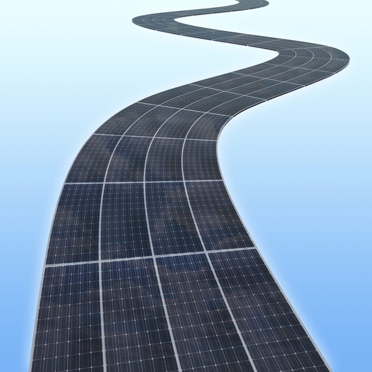 solar power road
