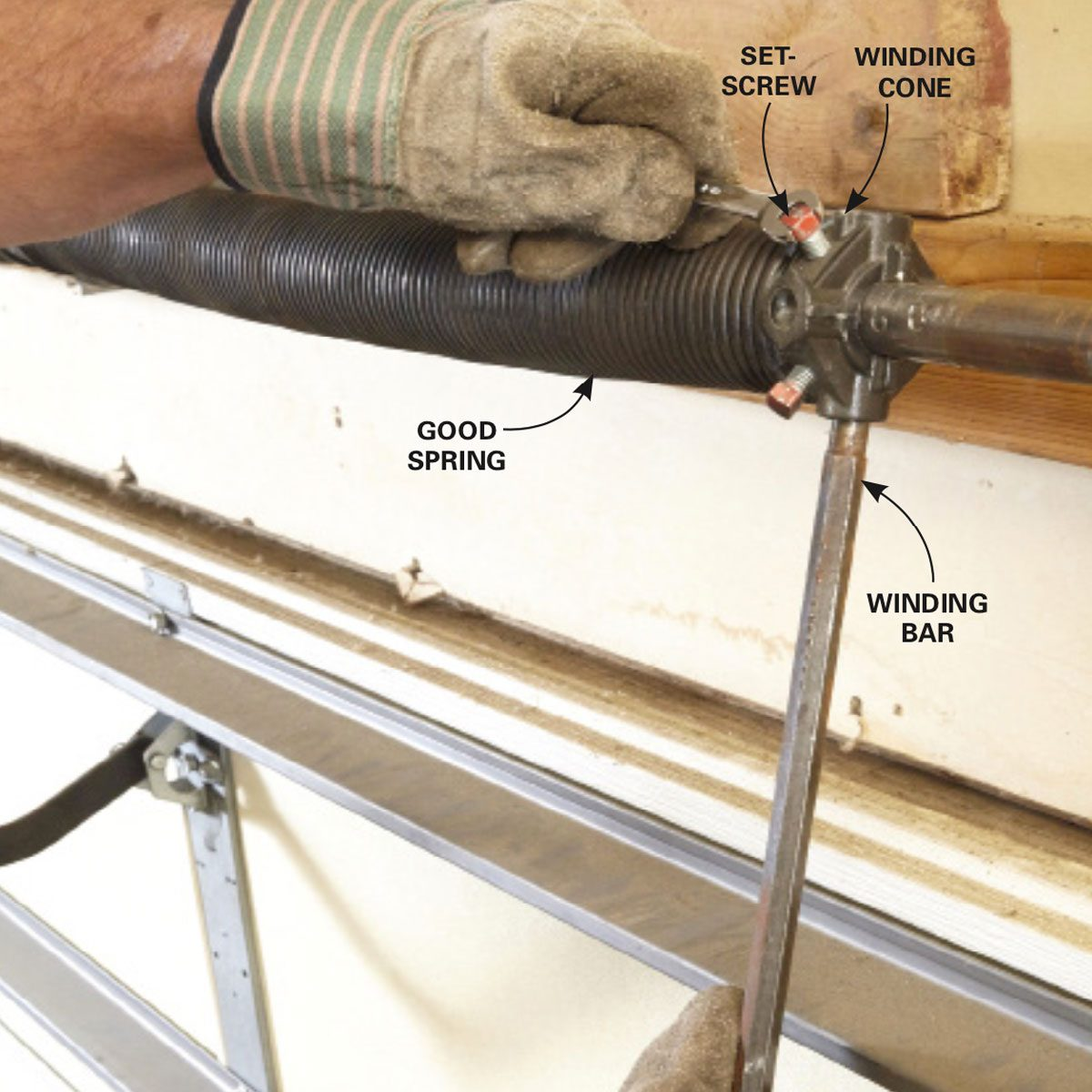 how to place a winding bar