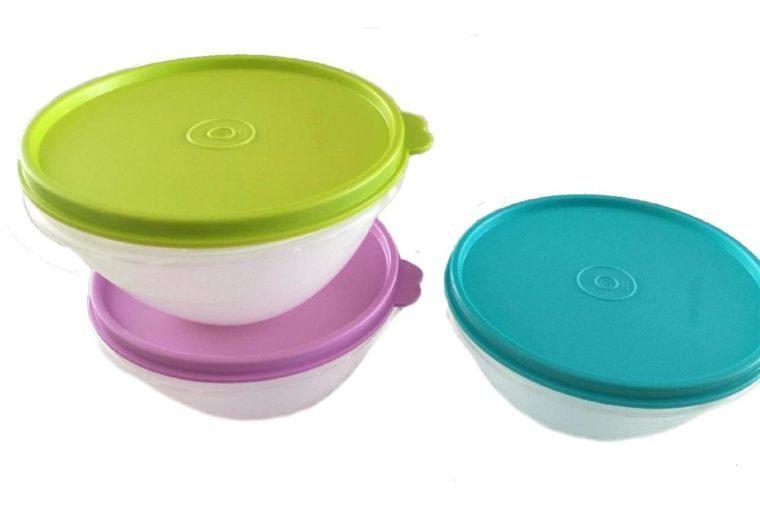 Tupperware Lidded Bowls