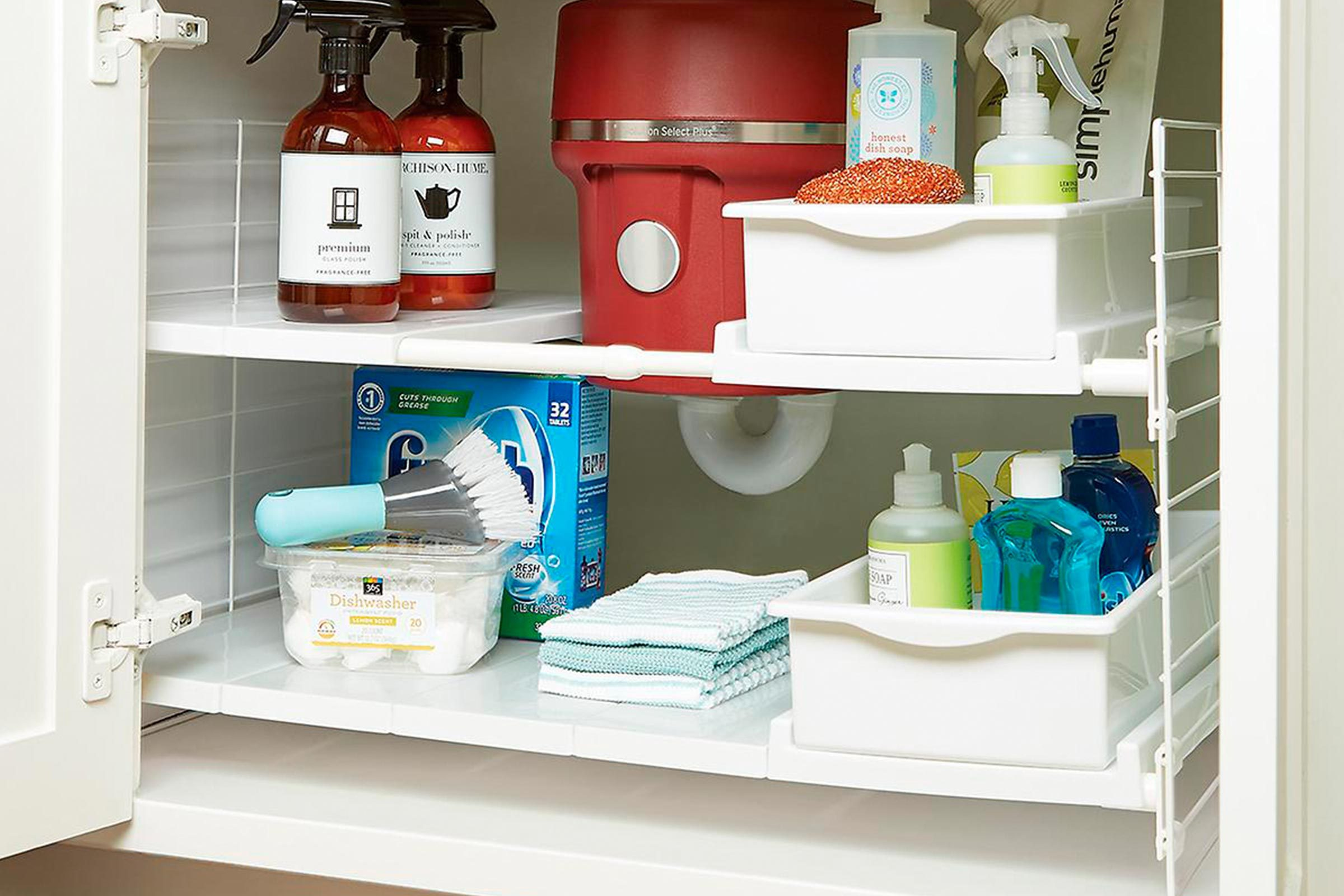 Expandable under sink crate