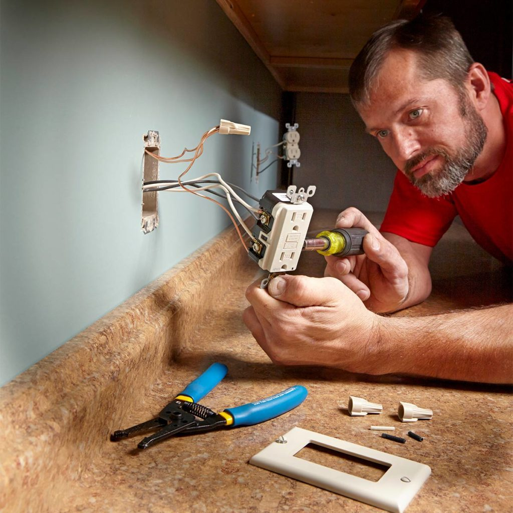 Installing an outlet near a countertop | Construction Pro Tips